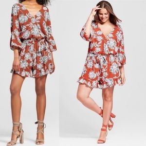 Who What Wear | Floral Ruffle Romper